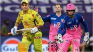 CSK Vs RR IPL 2021 Match 12 Live Streaming: चेन्नई सुपर किंग्ज विरुद्ध राजस्थान रॉयल यांच्यातील आयपीएल सामना लाईव्ह कधी, कुठे आणि कसा पाहणार? घ्या जाणून