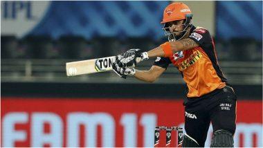 RR vs SRH, IPL 2020: मनीष पांडे, विजय शंकरच्या दमदार अर्धशतकाने रॉयल्स बॅकफूटवर, सनरायजर्स हैदराबादची हैदराबादवर 8 विकेटने मात