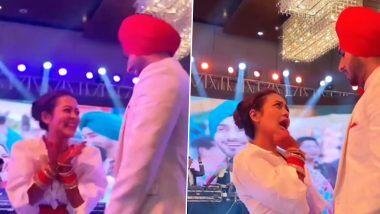 Neha Kakkar And Rohanpreet Singh Ring Ceremony: नेहा कक्कड़ आणि रोहनप्रीत सिंह यांचा रिंग सेरेमनीमध्ये धम्माल डान्स; Watch Video