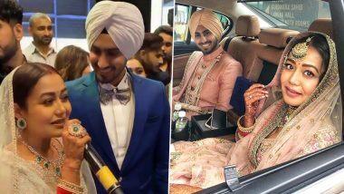 Neha Kakkar-Rohanpreet Singh Wedding: नेहा कक्कड़ चे सासरी झाले ढोल-ताशांच्या गजरात जंगी स्वागत, पाहा धमाल Videos