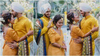 Neha Kakkar Haldi Ceremony: नेहा कक्कड़ आणि रोहनप्रीत सिंह चे हळदी समारंभातील सुंदर Candid फोटोज