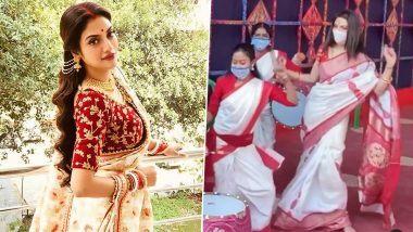 Nusrat Jahan Durga Puja Dance: TMC खासदार, अभिनेत्री नुसरत जहां चा दुर्गापूजा निमित्त पारंपरिक डान्स; Watch Video
