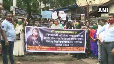 Payal Tadvi Suicide Case: सुप्रीम कोर्टाने आरोपींना PG Course करण्याची परवानगी दिल्याने पीडितेच्या परिवारासह स्थानिकांकडून नायर रुग्णालयाबाहेर आंदोलन