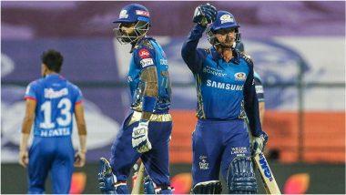 MI vs DC, IPL 2020: क्विंटन डी कॉक, सूर्यकुमार यादवच्या दमदार अर्धशतकाने मुंबई इंडियन्स टॉप वर, दिल्ली कॅपिटल्सवर 5 विकेटने मिळवला एकतर्फी विजय