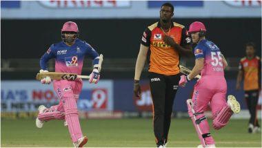RR vs SRH, IPL 2020: रॉयल्सविरुद्ध सनरायजर्स गोलंदाजांचा हल्ला बोल,राजस्थानचे हैदराबादला विजयासाठी 155 धावांचे लक्ष्य