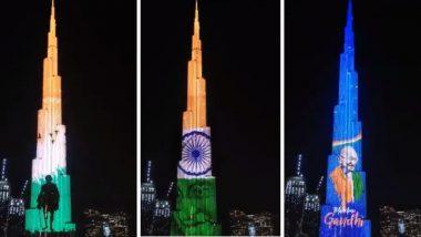 UAE: राष्ट्रपिता महात्मा गांधी यांच्या 151 व्या जयंती निमित्त Burj Khalifa वर तिरंग्यासह बापूंना दिली आदरांजली (Watch Video)