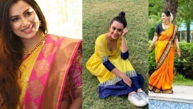 Navratri 2020 6th Day Saree Colour: क्रांती रेडकर ते शर्मिष्ठा राऊतच्या पिवळ्या रंगाच्या साड्यांमधील लूक पाहून तयार व्हा शारदीय नवरात्रीच्या सहाव्या दिवसासाठी!
