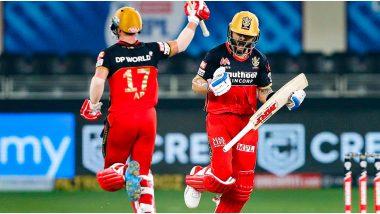 RCB vs KKR, IPL 2020: शारजाह येथे विराट कोहली-एबी डिव्हिलियर्सने उभारला धावांचा डोंगर, नाईट रायडर्स समोर विजयासाठी 195 धावांचे आव्हान