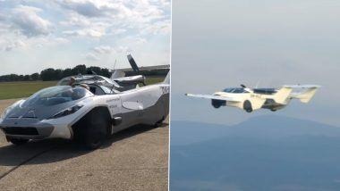 Slovakia मधील KleinVision कंपनीने विकसित केली AirCar; 3 मिनिटांत कारचे विमानात रुपांतर (Watch Video)