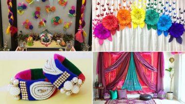 Navratri Decoration Idea for Home : घरच्या घरी सोप्या पद्धतीने कमी वस्तू वापरूनअशी करा नवरात्रीची सजावट
