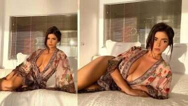 Demi Rose Hot Photo: डेमी रोज ने बेडवर दिली हॉट पोझ; फोटो पाहून चाहत्यांना फुटला घाम
