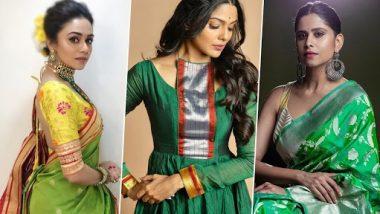 Navratri 2020 7th Day Saree Colour: शारदीय नवरात्रीच्या सातव्या दिवशी असा करा तुमचा हिरव्या रंगातील लूक