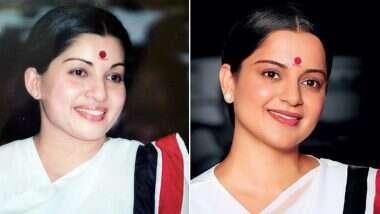 Thalaivi: 7 महिन्यांच्या प्रदीर्घ कालावधीनंतर 'थलाइवी' चित्रपटाच्या शुटिंगसाठी बॉलिवूड अभिनेत्री कंगना रनौत दक्षिण भारतात रवाना