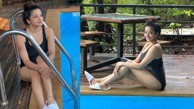 Monalisa Hot Photo: भोजपूरी अभिनेत्री मोनालिसा हिचा स्विमिंग मधील हॉट अंदाज पाहून व्हाल थक्क