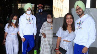 Neha Kakkar-Rohanpreet Singh Wedding: लग्नानंतर नेहा कक्कड़ पती रोहनप्रीत सिंहसोबत मुंबईला पोहोचली; विमानतळावरील  फोटो व्हायरल; Watch Photo