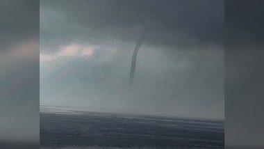 Mumbai Water Tornado: मुंबईच्या समुद्रात पाहायला मिळाला Waterspout; फोटो पाहून तुम्हालाही वाटेल आश्चर्य
