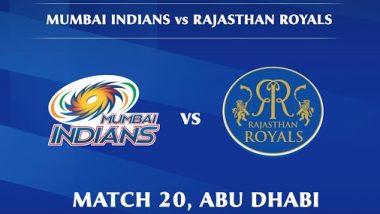 RR Vs MI 20th IPL Match 2020: मुंबई इंडियन्सच्या संघाने टॉस जिंकला; राजस्थान रॉयल्स प्रथम गोलंदाजी करणार