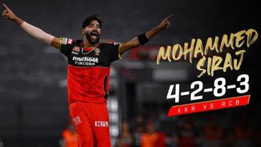KKR Vs RCB, IPL 2020: मोहम्मद सिराज याची ऐतिहासिक कामगिरी; आयपीएलच्या एकाच सामन्यात 2 मेडन ओव्हर टाकणारा ठरला पहिला खेळाडू