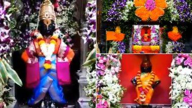 Diwali 2020: दिवाळी पाडवा आणि भाऊबीज निमित्त पंढरपूर विठ्ठल रुक्मिणी मंदिरात रंगीबेरंगी फुलांची सुंदर सजावट (Watch Video)