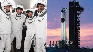 NASA आणि SpaceX चे पहिले ऑपरेशनल कमर्शियल क्रू मिशन लॉन्च; 4 अंतराळवीर ऐतिहासिक सफरीसाठी रवाना (Watch Video)