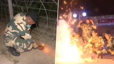 Diwali 2020: जम्मू-काश्मीरमध्ये सीमा सुरक्षा दलाच्या जवानांनी साजरी केली दिवाळी; प्रज्वलित केले दिवे, फोडले फटाके (Watch Video)