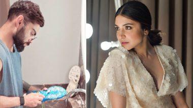 Virat Kohli Washing His Spikes: चिखलाने माखलेली चप्पल धुताना दिसला विराट कोहली, पत्नी अनुष्का शर्मा ने पतीच्या नकळत काढला 'हा' फोटो