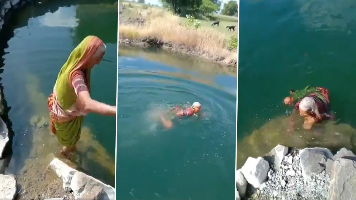 Viral Video: तरुणांनाही लाजवेल असा आज्जीबाईंचा नदीत स्वच्छंद पोहतानाचा व्हायरल व्हिडिओ पाहून तुमचाही डोळ्यांवर विश्वास बसणार नाही, नक्की पाहा