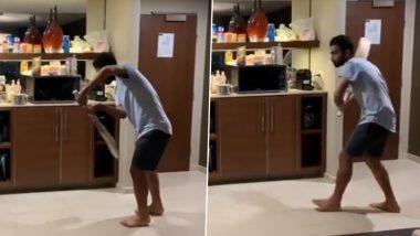IND vs AUS 2020-21: मुलीला रुममध्ये खेळव! अजिंक्य रहाणेने सुट्टीच्या दिवशी बॅटिंग प्रॅक्टिस करण्याचा शोधला अनोखा मार्ग, पाहून शिखर धवनने केले ट्रोल