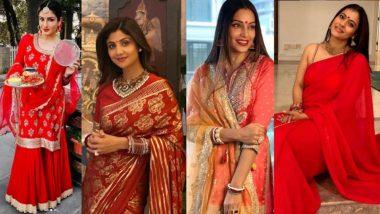 Karwa Chauth 2020: बॉलिवूडमध्ये दिसली 'करवा चौथ'ची धूम; शिल्पा शेट्टी, सोनाली बेंद्रे, काजोल, बिपाशा बसू, रवीना टंडन अशा अभिनेत्रींनी केली पतीच्या दीर्घायुष्यासाठी पूजा (See Photos and Videos)