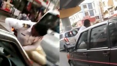 Pune: विनामास्क गाडी चालकाला अडवल्याने पोलिसाला जीवे मारण्याचा प्रयत्न; गाडी अंगावर घालून बोनेटवरून नेले (Watch Video)