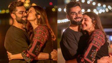 Anushka Sharma Kisses Virat Kohli: विराट कोहली च्या वाढदिवसानिमित्त अनुष्का शर्माने शेअर केले रोमांटिक Photos!
