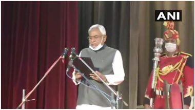 Nitish Kumar Take Oath as Bihar CM: नितीश कुमार यांनी 7 व्यांदा घेतली बिहारच्या मुख्यमंत्र्यांची शपथ; तारकिशोर प्रसाद आणि रेणू देवी यांची उपमुख्यमंत्रीपद निवड