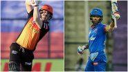IPL 2021 SRH vs DC Live Streaming: दिल्ली कॅपिटल्स आणि सनरायझर्स हैदराबाद मध्ये आज काट्याची टक्कर, Star Sports Network वर असे पाहा लाईव्ह प्रक्षेपण