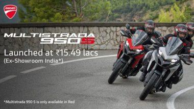 Ducati Multistrada 950S भारतात लॉन्च, 15.49 लाख रुपये किंमत असलेल्या या दमदार बाईकमध्ये मिळणार शानदार फिचर्स