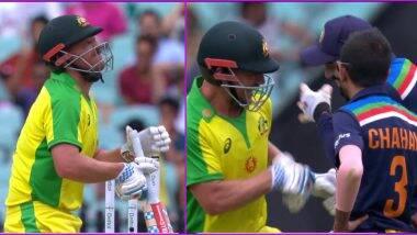IND vs AUS 2nd ODI: Ouch! आरोन फिंचच्या पोटावर आदळला नवदीप सैनीचा बाउन्सर, केएल राहुलने अशी घेतली मजा (Watch Video)