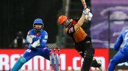 IPL 2021 SRH vs DC Match 33: सनरायझर्स हैदराबादला दुहेरी झटका, दोन जीवदानानंतर Kane Williamson झेलबाद, मनीष पांडेही आऊट