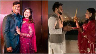 Karwa Chauth 2020: 'जीवन विमा Renewal साठी शुभेच्छा'; मयंक अगरवाल, रोहित शर्मा ते सुरेश रैना यांनी असा साजरा केला करवा चौथ! पाहा Photos