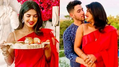 Priyanka Chopra ने पती  Nick Jonas साठी अमेरिकेमध्ये केलं करवा चौथ 2020 चं व्रत; इंस्टाग्राम वर शेअर केले रोमॅन्टिक फोटोज