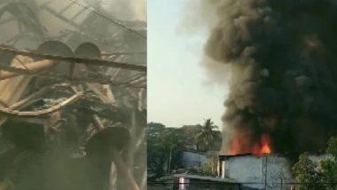 Thane Fire: भिवंडी मध्ये खोका कंम्पाऊंड मधील कारखान्याला भीषण आग; जीवितहानी नाही