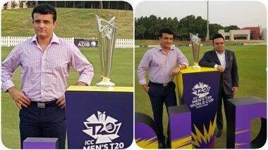 ICC T20 World Cup 2021: भारतात पुढील वर्षी होणाऱ्याटी-20 वर्ल्ड कपचेअनावरण, BCCI अध्यक्ष सौरवगांगुली म्हणाले-'21 ही भारताची वेळ आहे'