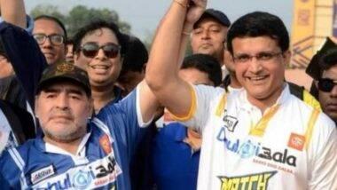 Diego Maradona यांच्यानिधनानंतर भारतीय क्रीडा विश्वावर शोककळा, सौरवगांगुली यांनीवाहिलीभावनिक श्रद्धांजली