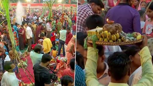 Chhath Puja: छठ पूजानिमित्त मुंबई महानगरपालिकेने समुद्रकिनाऱ्यावर घातली बंदी; अन् भाविकांनी कृत्रिम तलावावरच केली प्रचंड गर्दी
