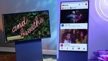 Samsung Launches The Sero Rotating Smart TV: सॅमसंगने लाँच केली 'द सेरो' रोटेटिंग टीव्ही; जाणून घ्या किंमत आणि फिचर्स