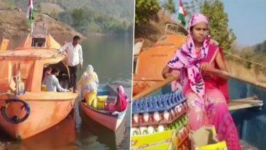 Nandurbar: कौतुकास्पद! अंगणवाडी सेविका Relu Vasave आदिवासी मुलं व गर्भवती स्त्रियांना पोषक आहार पुरवण्यासाठी दररोज 18 किमी बोट चालवून जातात दुर्गम भागात; पहा फोटो