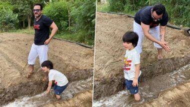 Taimur Ali Khan Cute Photos: वडील सैफ अली खान सोबत शेती करताना दिसला तैमूर; पहा क्यूट फोटोज