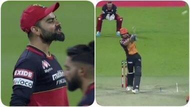 IPL 2020 Eliminator: आज नही मार राहा शॉट? विराट कोहलीने मनीष पांडेला केले स्लेज, SRH फलंदाजाने षटकार लगावतRCB कर्णधारालाचपराक लगावली (Watch Video)