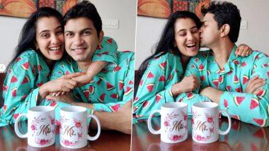 Sai Lokur ने सोशल मिडियावर शेअर केले पती तीर्थदिप रॉयसह काढलेले Night Suit मधील Cute फोटोज, See Pics