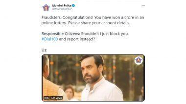 मुंबई पोलिसांनी अभिनेता Pankaj Tripathi च्या मान वळवण्याच्या लकबीच्या मिम्सचा वापर करत नागरिकांना दिला महत्त्वाचा संदेश