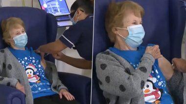 Margaret Keenan, 90 वर्षीय आजीबाई ठरल्या  UK मधील Pfizer-BioNTech COVID-19 Vaccine चा डोस घेणार्या पहिल्या व्यक्ती Watch Video