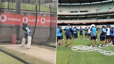 IND vs AUS 2nd Test: ऑस्ट्रेलियाविरुद्ध बॉक्सिंग डे टेस्ट लढतीआधी टीम इंडियाची कसून मेहनत, 'हा' युवा फलंदाज दिसला सराव करताना, पहा  Photos व Video